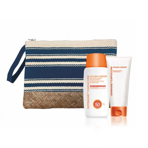 All Stripe Clutch - Golden Caresse - SPF50 creme - Icy Pleasure - Aftersun - 50ml