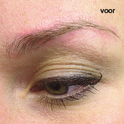 Permante Make-up hairstrokes voor